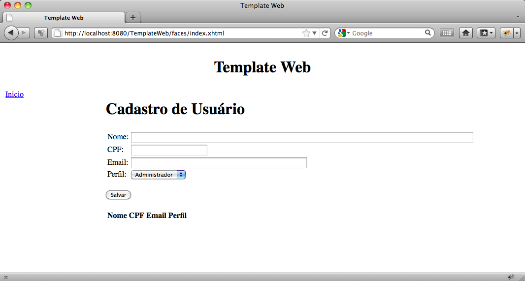 what is template in java - jsf template facelets universidade java